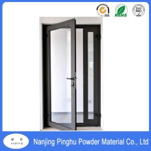 Black Frosted Grain Outdoor Doors and Windows Polyester Powder Coating pictures & photos