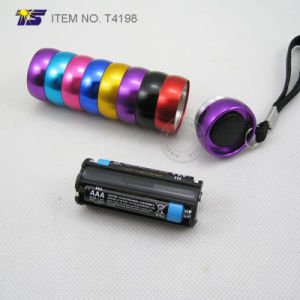Rainbow Colorful Body 6 LED Flashlight (T4198) pictures & photos