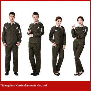 2017 Factory Custom Orange Cotton Polyester Working Workwear (W24) pictures & photos