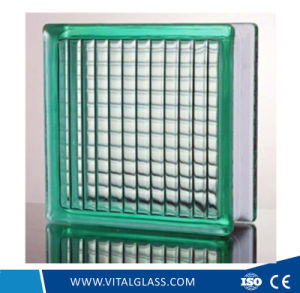 Green/Clear Parallel Patterned Glass Block/Brick Glass for Decoration (G-B) pictures & photos