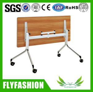 Wooden Furniture Folding Wooden Training Table with Wheels (SF-05F) pictures & photos