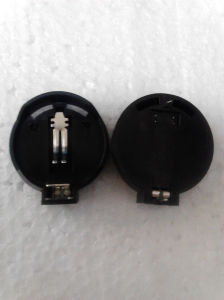 Counter Single Black Cr2032 Coin Battery Holder pictures & photos