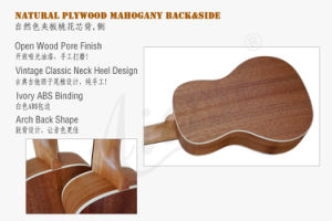 High Grade Abalone Binding Solid Spruce Concert Ukulele for Sale pictures & photos