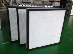 Mini-Pleated 0.3microns Fiberglass HEPA Filter, Industrial Air Filter H13 H14 pictures & photos