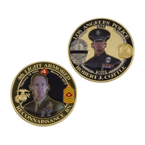 Customized Enamel Us Police Coin pictures & photos