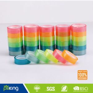 Paper Core Acrylic Color BOPP Stationery Tape pictures & photos