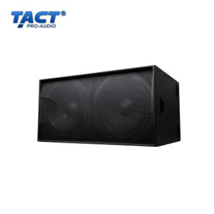 S218 Dual 18′′ 1300W PRO Subwoofer Speaker Box Woofer (TACT) pictures & photos