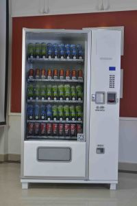 Slender Snack Can and Bottle Vending Machine Support NFC Payment pictures & photos