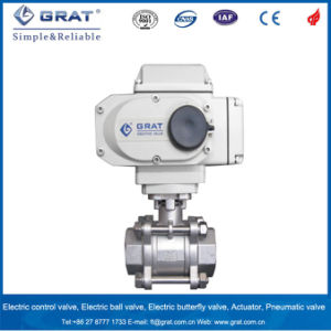 1000wog 3PC Stainless Steel Thread Electric Ball Valve pictures & photos