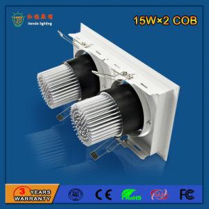 Wholesale 2700-6500k 90lm/W 15W*2 Aluminum LED Grille Light pictures & photos