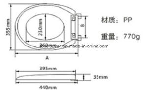 Low Price PP Toilet Seat with Weight 0.7kg pictures & photos