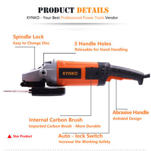 2800W Powerful 180mm Angle Grinder Kd39 of Kynko Power Tools pictures & photos