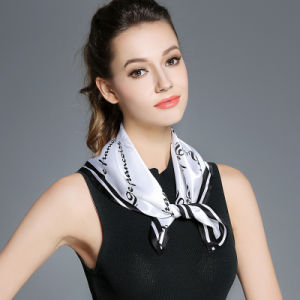 100% Silk Scarf for Women Neckerchief Digital Print Silk Scarf