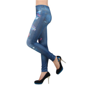 Lady Sexy Heart Print Seamless Leggings pictures & photos