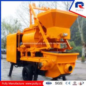Pully Manufacture 800L Hopper Capacity Trailer Concrete Pump with Mixer pictures & photos