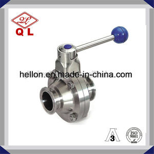 3A Sanitary Stainless Steel Welded Butterfly Type Ball Valve pictures & photos
