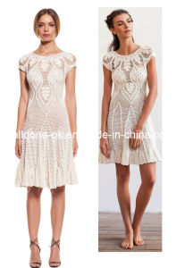 Ladies Lace Hand Crochet Dresses Handmade Poncho Beach Cover up pictures & photos