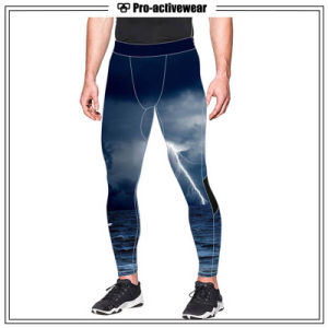 Mens Gym Wear Running Exercise Compression Sports Pants pictures & photos