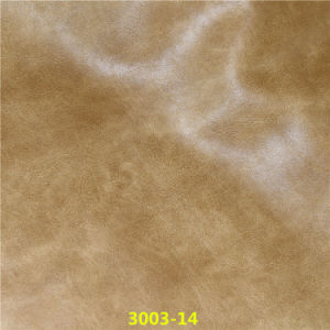 Classic Design Abrasion-Resistant Embossed Synthetic PU Leather for Sofa Furniture pictures & photos