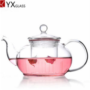Glass Teapot Heat Resistant High Borosilicate Glass Infuser Filter Handblown 1000ml