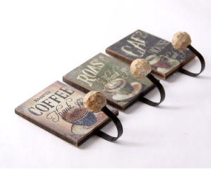 Metal Wall Hanger with Wooden Plaque pictures & photos
