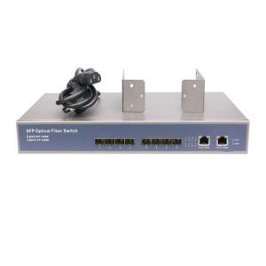 8 SFP and 2 RJ45 Port Network Fiber Switch Rack Mount Full Giga Network Switch L2 Fiber Switch pictures & photos