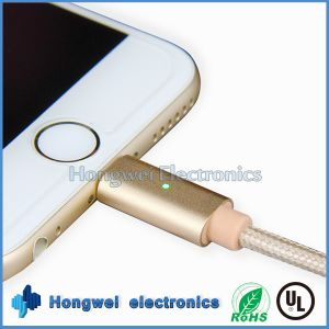 Intelligent USB Charged Data Braided Breathing LED Light iPhone USB Cable pictures & photos
