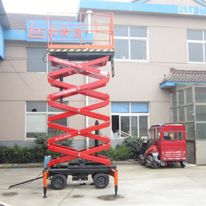 300kg 7.5m Hydraulic Scissor Aerial Working Platform (SJY0.3-7.5) pictures & photos