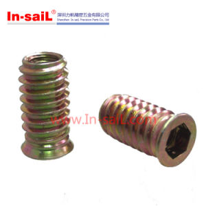 China Companies Steel Zinc Thread Inserts for Woodworking Manufacturer Service pictures & photos