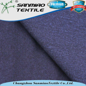 Indigo Blue Knit Single Jersey Knitted Denim Fabric for T-Shirt pictures & photos