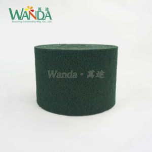 Heavy-Duty Abrasive Cleaning Pad Green Nylon Scouring Pad in Roll pictures & photos