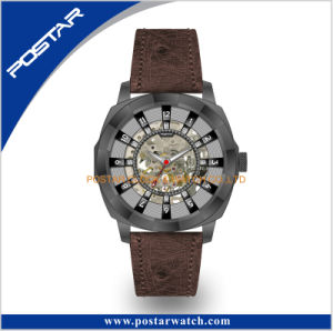 Popular Skeleton Automatic with Genuine Leather Strap pictures & photos