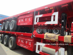 3 Axles Low Bed Flatbed Semi Trailer pictures & photos