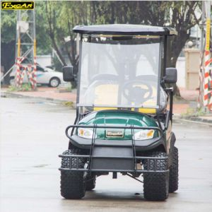 Green Color Electric Power 4 Seats Electric Mini Golf Cart pictures & photos