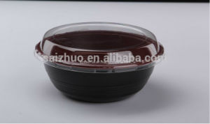 700ml Thicken Red Black Disposable Plastic Round Bowl pictures & photos