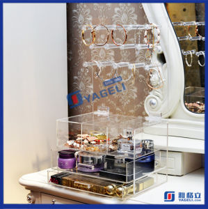 Factory Made Acrylic Clear Cosmetic Makeup Display Organizer pictures & photos