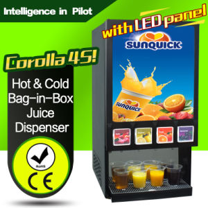 Hot & Top Table Drink Machine Cold Bag-in-Box Juice Dispenser Corolla 4s (with LED panel) pictures & photos