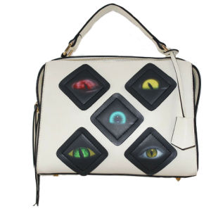 Best Selling PU Designer Handbags with Eyes Pattern pictures & photos