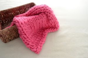 Super Chunky Hand Knit Baby Blanket Photography Prop Newborn Rug pictures & photos