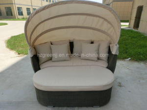 Rattan Outdoor Daybed with Stool pictures & photos