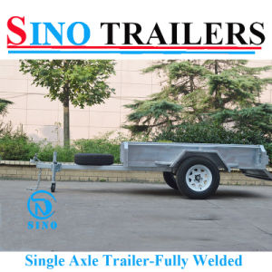 7X5 Single Axle Farm Box Trailers in Smart Price pictures & photos