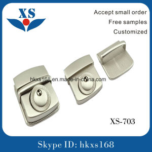 Shiny Nickel Metal Bag Lock Buckle for Handbag