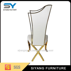 Hotel Furniture Gold Metal Dining Chair with White Fabric pictures & photos