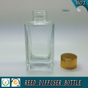 100ml Rectangular Reed Diffuser Glass Bottle with Gold Cap pictures & photos