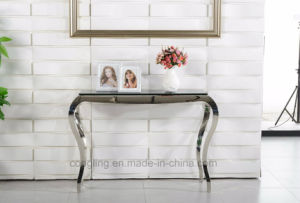 Luxury Design Clear Glass Console Table Design pictures & photos