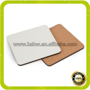 China Top Quality 32X23cm Square Sublimation Wooden Cork Placemat