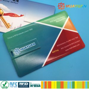Slim design Smart color full printing USB Business Card Flash Drives pictures & photos