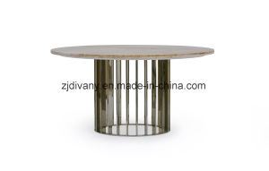Classic Style Dining Table Round Table Marble (LS-225) pictures & photos