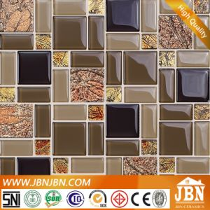 Glass and Golden Foil Mosaic for Wall Tile (M855010) pictures & photos
