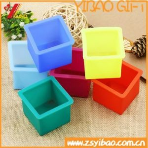 Kitchenware Make Makes 6 Extra Large Cubes Square Silicone Ice Cube Tray pictures & photos
